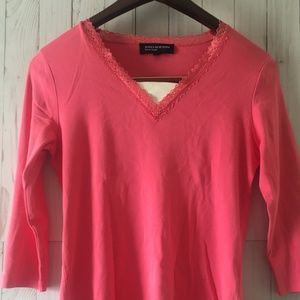 Jones New York  Women's Pink Long Sleeve Shirt